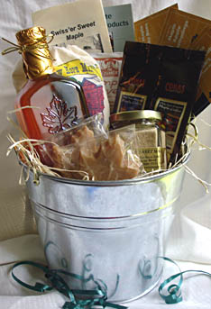 Maple Syrup Bucket Gift Basket